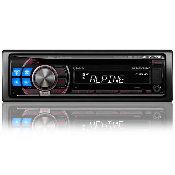 alpine bluetooth cd radio with ipod connection. Black Bedroom Furniture Sets. Home Design Ideas